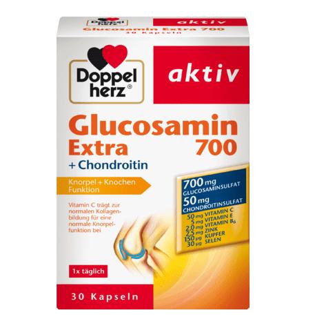 Viên uống bổ sụn khớp Doppelherz Glucosamin 700 Extra + Chondroitin, 30 viên