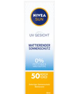 Kem chống nắng NIVEA SUN UV Gesicht 0% nhờn LFS50, 50 ml