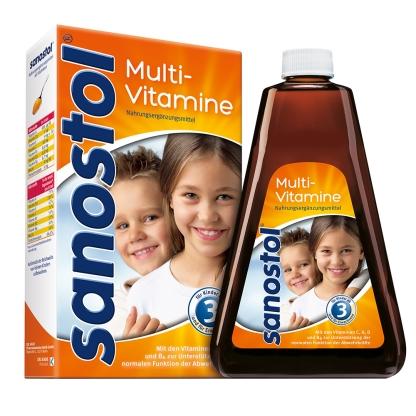 Sanostol Multi-Vitamin Saft số 3 – vitamin tổng hợp cho trẻ từ 3 tuổi, 460ml
