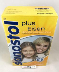 Sanostol plus Eisen Saft số 6 - vitamin tổng hợp + sắt cho trẻ từ 6 tuổi, 460ml