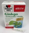 Viên uống bổ não Doppelherz Ginkgo + B-Vitamine + Cholin, 40 viên