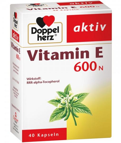Viên uống Doppelherz aktiv Vitamin E 600 N, 40 viên