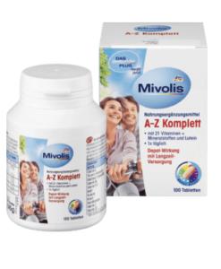 Vitamin tổng hợp DAS Gesunde PLUS Mivolis A-Z Komplett, 100 viên - bổ sung 21 vitamin và khoáng chất
