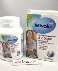 Vitamin tổng hợp Mivolis A-Z Depot, 100 viên - bổ sung 21 vitamin và khoáng chất