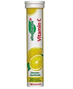 Viên sủi bổ sung vitamin C altapharma Vitamin C, 20 viên