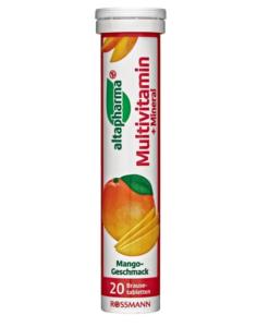 Viên sủi bổ sung vitamin và khoáng chất altapharma Multivitamin + Mineral, 20 viên