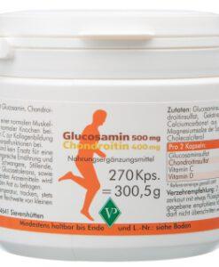 Viên uống bổ sụn khớp Glucosamin 500mg + Chondroitin 400mg từ cá mập, 270 viên