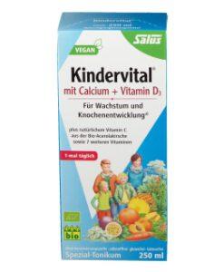 Siro Kindervital Bio bổ sung Canxi và Vitamin D3 cho bé, 250ml