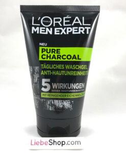 Sữa rửa mặt nam L'ORÉAL Men Expert Pure Charcoal Waschgel cho da dầu mụn, 100 ml