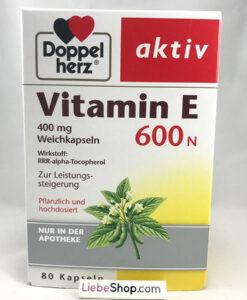 Viên uống Doppelherz aktiv Vitamin E 600 N, 80 viên