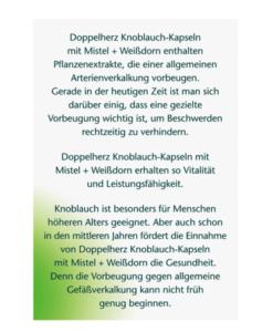 Viên tỏi Doppelherz Knoblauch mit Misteln + Weißdorn, 480 viên