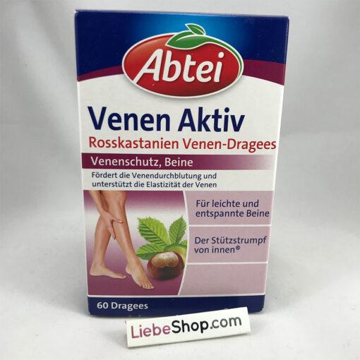 Viên uống trị giãn tĩnh mạch Abtei Venen Aktiv, 60 viên