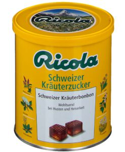Kẹo thảo dược Ricola chweizer Kräuterzucker giảm ho, khàn giọng, 250g
