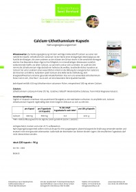 Viên uống Sanct Bernhard Calcium Lithothamnium bổ sung canxi từ tảo biển, 120 viên