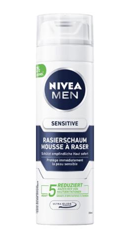 Bọt cạo râu NIVEA MEN Rasierschaum Sensitive cho da nhạy cảm, 200 ml