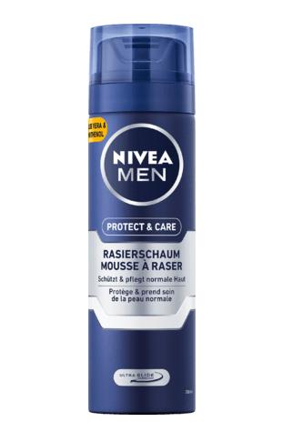 Bọt cạo râu NIVEA MEN Rasierschaum Protect & Care cho da thường, 200 ml