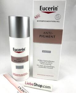Kem dưỡng da Eucerin Anti-Pigment NACHT ban đêm - mờ thâm nám, sáng mịn da, 50ml