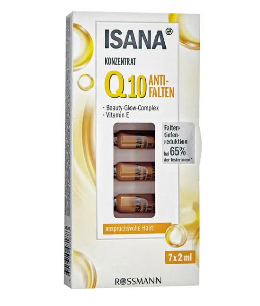 Tinh chất ISANA Q10 Anti-Falten Konzentrat chống lão hóa, giảm nếp nhăn, 7x2ml