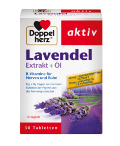 Viên uống Doppelherz Lavendel Extrakt + Öl an thần, ngủ ngon, 30 viên