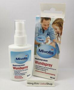Dung dịch xịt vết thương Mivolis Wundspray, 50 ml