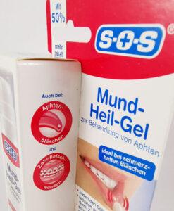 Gel trị nhiệt miệng siêu tốc SOS Mund-Heil-Gel, 15 ml