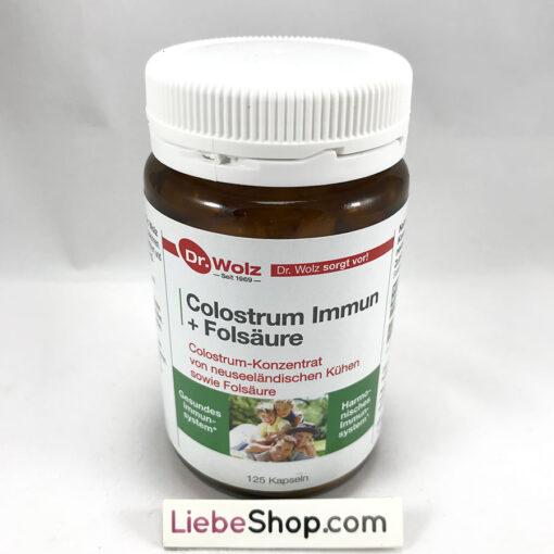 Sữa non Colostrum Immun Dr.Wolz tăng cường hệ miễn dịch, cải thiện hệ tiêu hóa, 125 viên