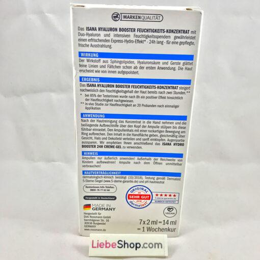 Tinh chất ISANA Hyaluron Booster Feuchtigkeits Konzentrat cấp nước, dưỡng ẩm da, 7x2ml