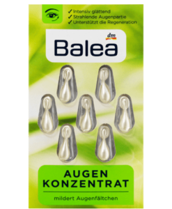 Viên nang dưỡng da vùng mắt Balea Konzentrat Augen, 7 viên