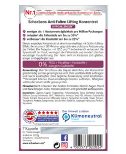 Viên nang Schaebens Anti-Falten Lifting Konzentrat giảm nếp nhăn, làm căng da, 7 viên