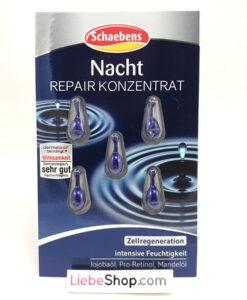 Viên nang Schaebens Nacht Repair Konzentrat phục hồi da ban đêm, 5 viên