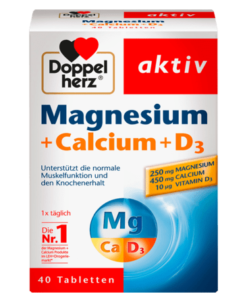 Viên uống Doppelherz Magnesium + Calcium + D3 Tabletten, 40 viên