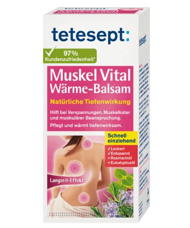 Gel xoa bóp tetesept Muskel Vital Wärme-balsam, 100ml