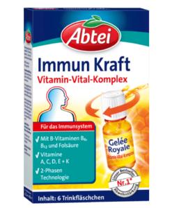 Abtei Immun Kraft tăng sức đề kháng, hỗ trợ hệ miễn dịch, 6 ống x 11ml