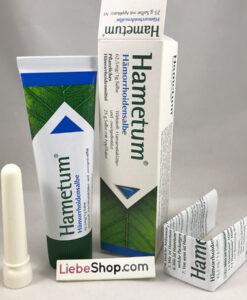 Thuốc mỡ bôi trĩ Hametum Hämorrhoidensalbe kèm dụng cụ bôi, 25g