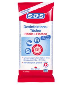 Khăn ướt khử trùng SOS Desinfektions-Tücher, 10 chiếc