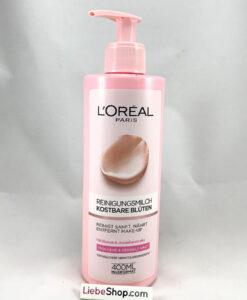 Nước tẩy trang Loreal Skin Expert kostbare Bluten Reinigungsmilch cho da khô và nhạy cảm, 400ml