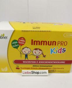 Siro Immun PRO Kids Hübner hỗ trợ hệ miễn dịch, tăng chiều cao, 15 gói