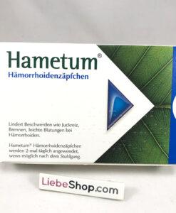Thuốc đặt trĩ Hametum Hämorrhoidenzäpfchen dạng viên đặt, 10 viên