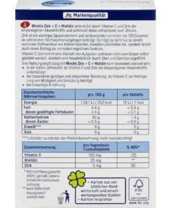 Viên ngậm Mivolis Zink + C + Histidin bổ sung kẽm và vitamin C, 30 viên