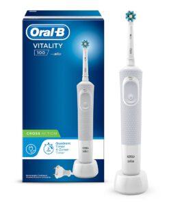 Bàn chải đánh răng điện Oral-B Vitality 100 Cross Action White, 1 chiếc