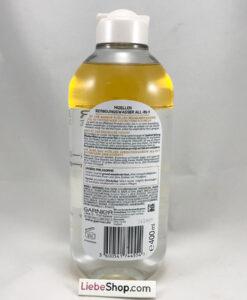 Nước tẩy trang Garnier Mizellen Waterproof chứa dầu, loại bỏ lớp trang điểm không thấm nước, 400 ml