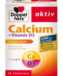Viên uống bổ sung canxi Doppelherz Calcium + Vitamin D3 1200mg, 30 viên