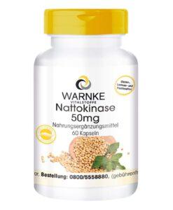 Viên uống WARNKE Nattokinase 50mg phòng ngừa tai biến, đột quỵ, 60 viên