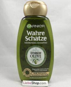 Dầu gội GARNIER Wahre Schätze Mythische Olive cho tóc khô và hư tổn, 300ml