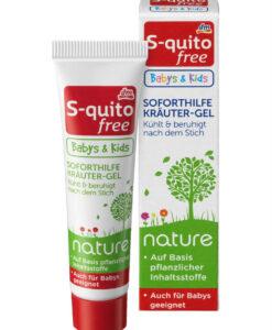 Gel bôi vết muỗi đốt và côn trùng cắn S-quito free Babys and Kids từ thảo dược thiên nhiên, 15ml