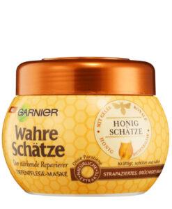 Kem ủ tóc GARNIER Wahre Schätze Honig mật ong phục hồi tóc hư tổn, gãy rụng, 300ml