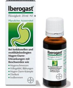 Thuốc dạ dày Iberogast điều trị rối loạn tiêu hóa, viêm loét dạ dày, tá tràng, 20ml