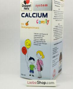 Siro Doppelherz Calcium family bổ sung canxi cho trẻ em và người lớn, 250ml