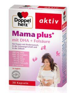 Vitamin tổng hợp cho bà bầu Doppelherz Mama plus mit DHA + Folsäure, 30 viên