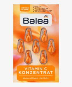 Viên nang dưỡng da Balea Konzentrat Vitamin C sáng da, mờ thâm nám, 7 viên